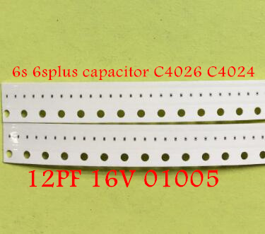10pcs/lot for iphone 6s 6splus <font><b>capacitors</b></font> C4026 C4024 12PF 16V <font><b>01005</b></font> image