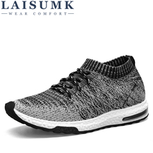 LAISUMK New 2019 Men Casual Sneakers Breathable Mesh Man Fashion Shoes Footwear Slip On Soft Walking Unisex Couples Shoes new exhibition shoes men breathable mesh summer outdoor trainers casual walking unisex couples sneaker mens fashion footwear net