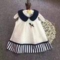 Новая детская Платье Девушки принцесса Кукла воротник кружева вышивки платья Оптовая 2017