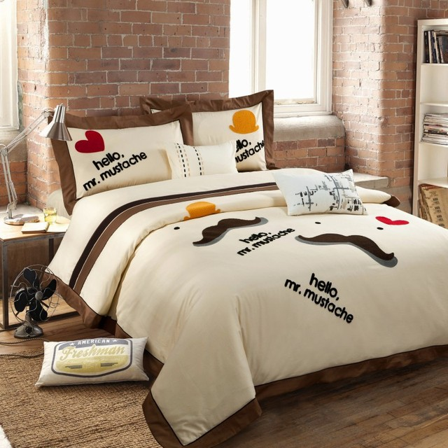 Cotton Fashion Embroidered Applique Wedding Bedding Set,twill Activity  Printing Duvet Cover,folk