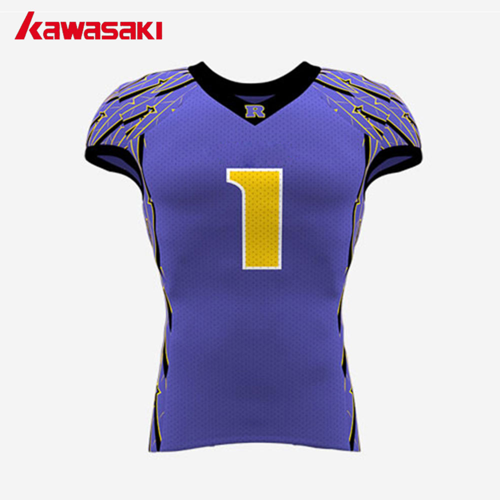 0d58c27ea Kawasaki Custom Collage American Football Top Jerseys Suits Youth   Mens  Exercise Sports Set Practice Football Jersey Shorts