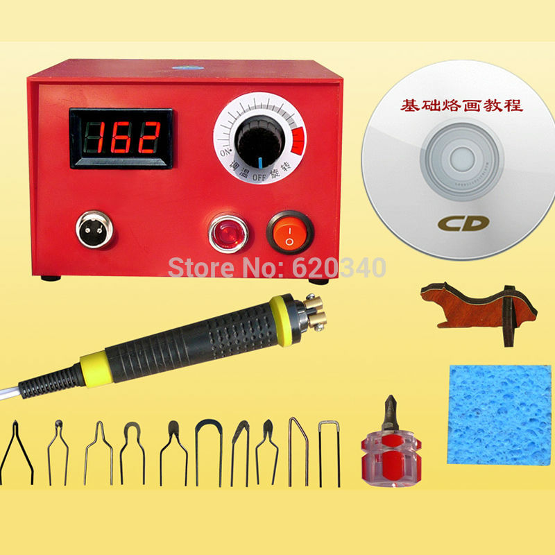 NEW Digital display Gourd pyrography machine with pyrography pen +10pcs Pyrography heating wire for Wooden gourd crafts
