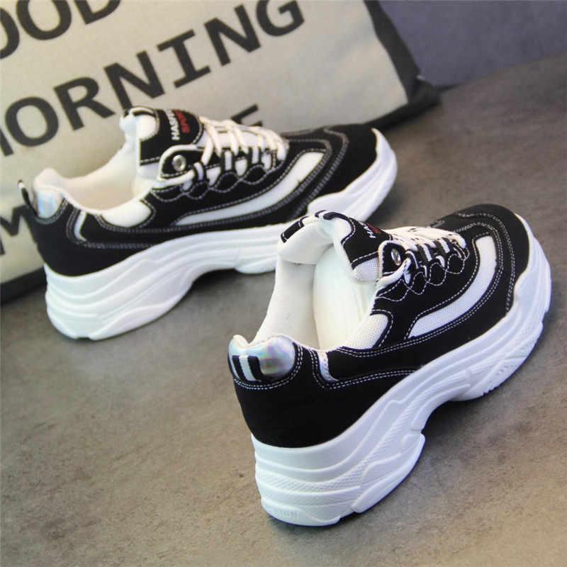 9125730b47a SWYIVY Sneakers Shoes White Woman 2019 Spring New Female Platform Plain  White Canvas Shoes PU Leahter Lady Fashion Flat Sneakers