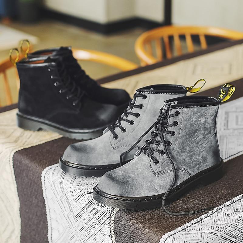 Nouveau Martin bottes britannique haute aide outillage chaussures Hong Kong littéraire rétro sauvage désert bottes