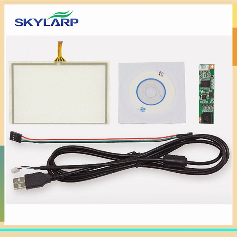 skylarpu 5 inch 4 Wire Touch screen Panel digitizer with USB Controller Kit For ZJ050NA-08C 117*89mm 117mm*89mm