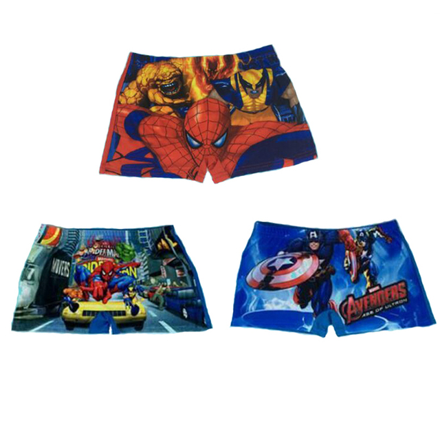 b690d0acd6 Kids Spiderman swimming Trunks, Baby Cartoon swimming trunks swimwear boys  Girl shorts, Captain America child bathing Beach Pant