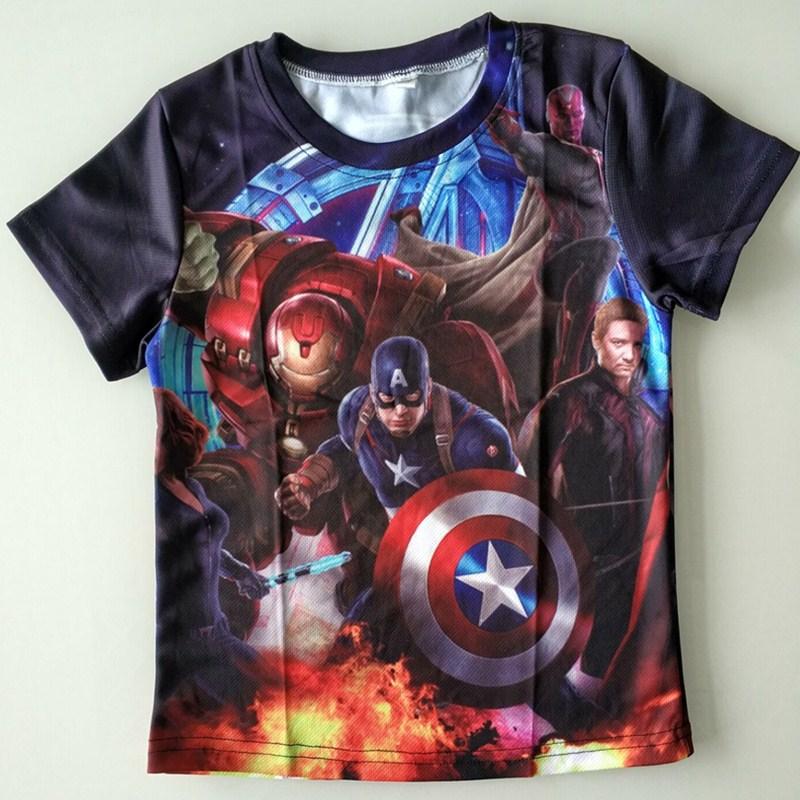 Joyonly 2018 Summer Girls Boys Avengers T shirt Baby Kids T-shirt Children Super Hero Tops Baby Brand Tees For 4-20 Years Old женская футболка brand new t o emoji big hero shirt