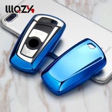 Купить с кэшбэком Car Styling Remote Key Cover Case Fit For BMW F05 F10 F20 F30 Z4 X1 X4 X6 M1 M3 Car Key Chain Key Ring Car Covers TPU Soft Car