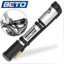 2014 BETO MP-036 de gama alta de bicicleta de montaña portátil inflador de alta presión manguera de tipo tornillo de la bomba inflable mini bomba bicicleta