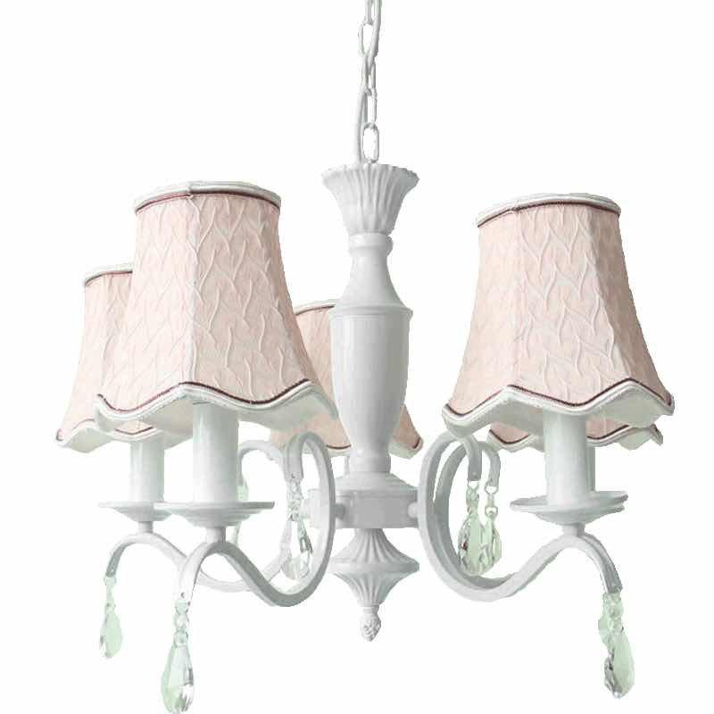 moderne roze stof lampenkap kroonluchter verlichting e14 europese