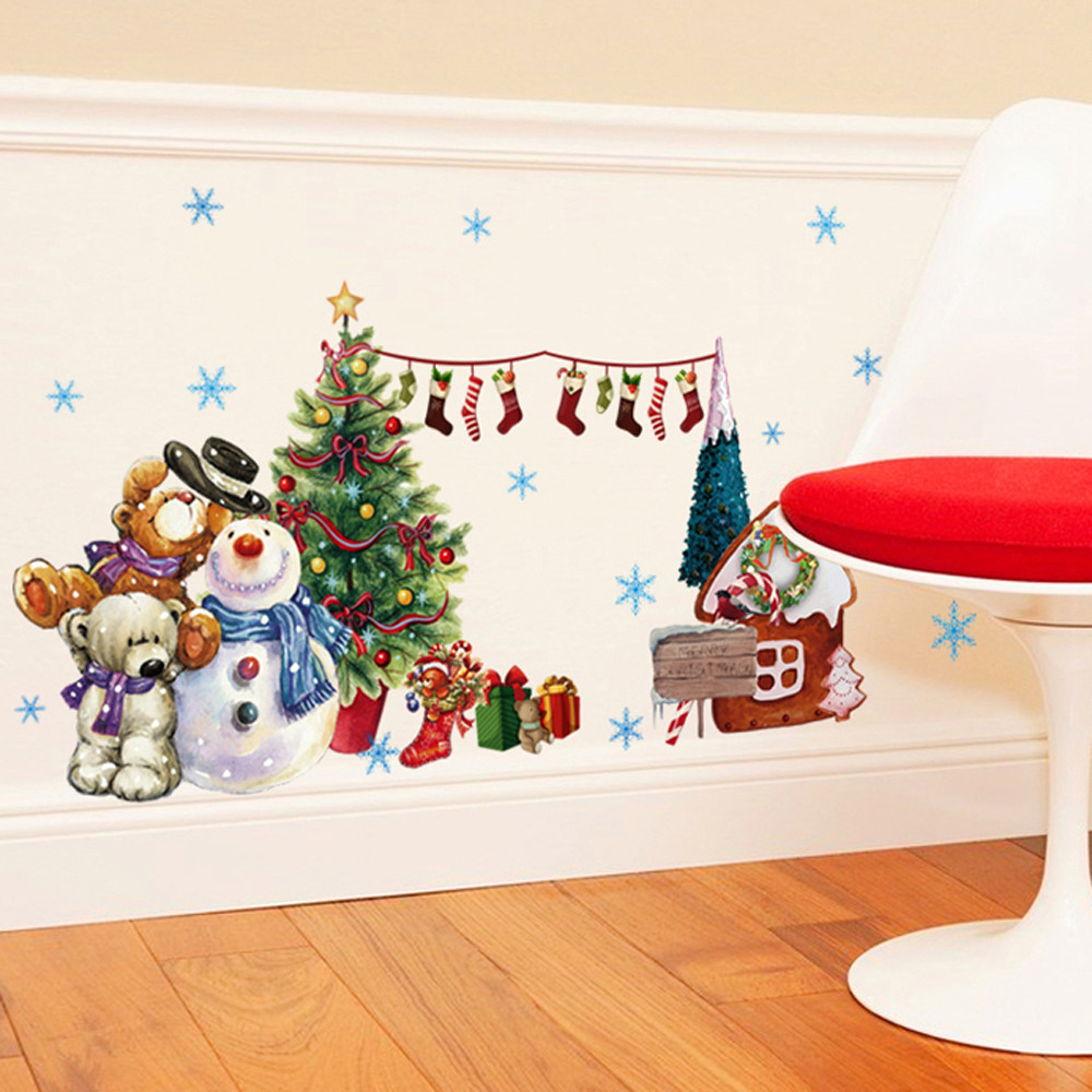 Wall Xmas Decorations Popular Christmas Glass Stickers Buy Cheap Christmas Glass