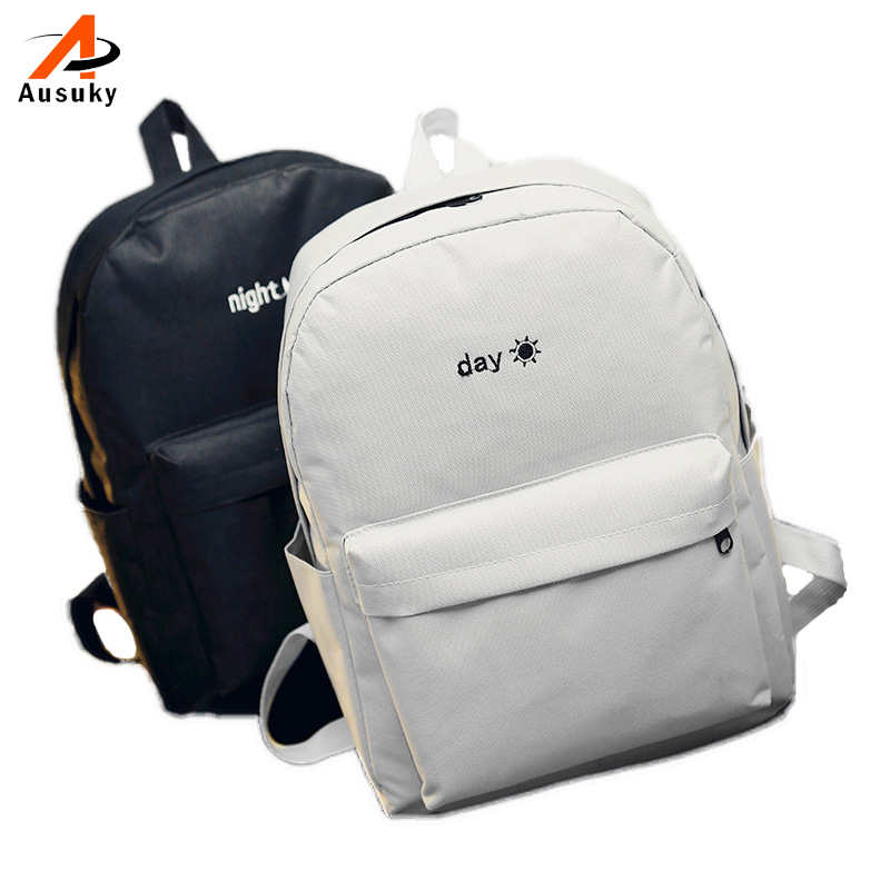 172d9ed1381a US $6.99 49% OFF|Ausuky Brand new women casual canvas student school bag  preppy style bookbag ladies travel rucksack female shopping backpacks 45-in  ...