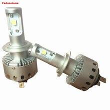 2*Turbo Plug/Play H7 LED Headlight Kit 7S 80W CREE XHP50 Chip 8000LM 6500K Headlight Bulbs Automotive Lighting Headlight
