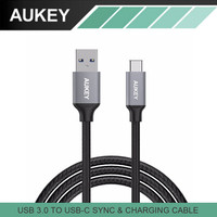 AUKEY USB-C to USB 3.0 Braided Nylon Type A to Type C Cable for Macbook Google Pixel Xiaomi Mi5 Meizu Pro6 Huawei P9 LG G5 Cable