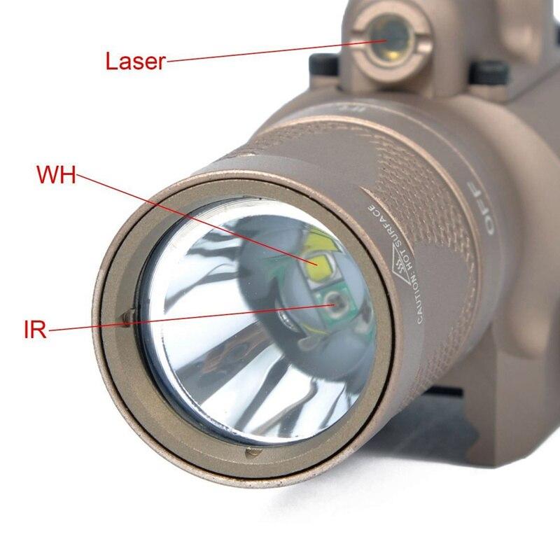 X400v tático ir luz vermelho visão laser