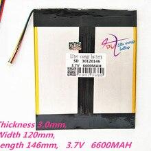 5 thread 30120146 3,7 V 6600MAH литий-полимерный аккумулятор MP3 MP4 аккумулятор рекордер перезаряжаемые батареи планшет батарея