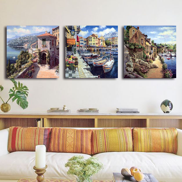 cheap modern oil painting unframed wall pictures for living room
