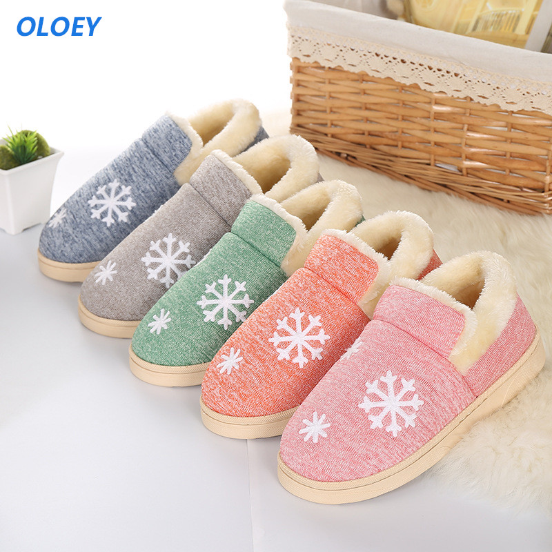 Women's winter women female slippers 2017 home non-slip soft couples cotton shoes thick bottom indoor warm plush zapatillas plush home slippers women winter indoor shoes couple slippers men waterproof home interior non slip warmth month pu leather