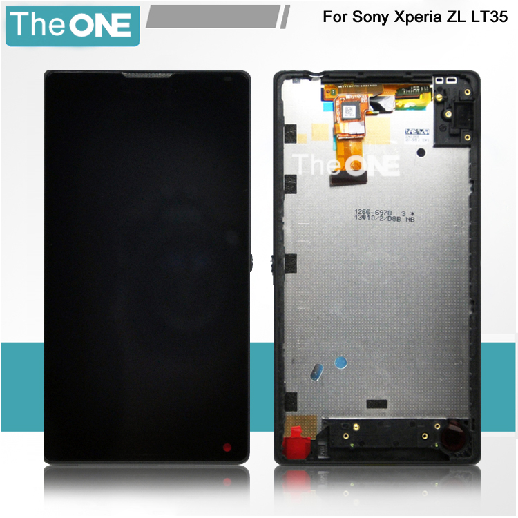 Подробнее о For Sony Xperia ZL L35h Lt35h LCD Display Panel + Touch Screen Digitizer Glass Assembly + Frame Repair Part Replacement for sony xperia arc s lt18i lt18 x12 lcd display screen monitor digitizer touch panel screen glass assembly replacement