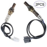 2Pcs Car Air Fuel Ratio Oxygen Sensor Up Downstream For Subaru Forester 2003 2004 2 5L