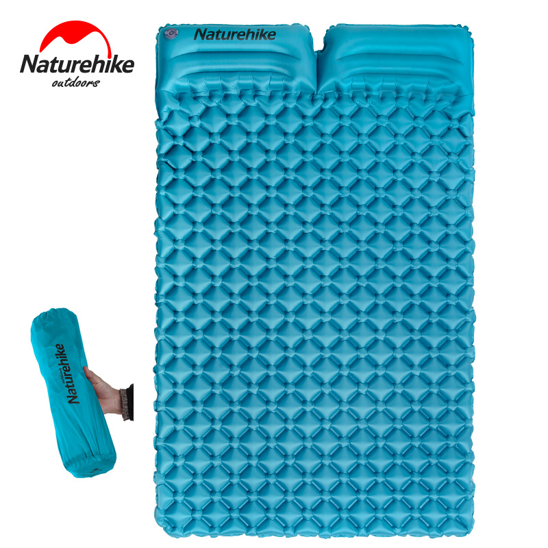 Naturehike Outdoor Double Inflatable Cushion Sleeping Bag Mat Fast Filling Air Moistureproof Camping Mat Tent Sleeping
