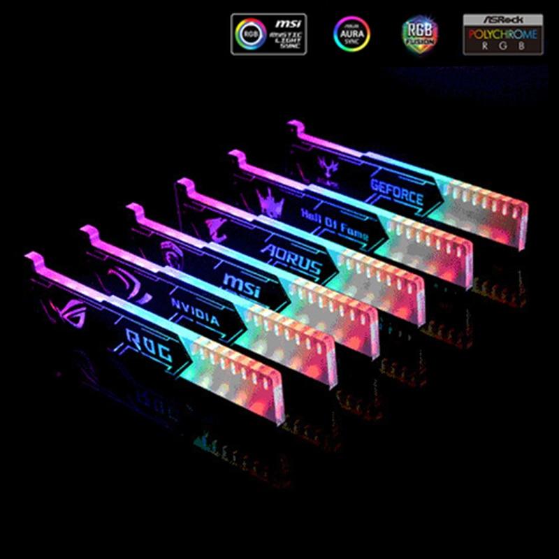 Support carte graphique Support GPU Support acrylique gravure Laser 5V 3PIN ARGB/RGB VGA cadre NVIDIA ROG ASUS Gigabyte AURA SYNC