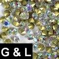 Ss11.5-ss25 Glitter Crystal Clear AB Color Pointback Pedrería de Cristal Piedras Del Arte Del Clavo 3D Encantos de La Joyería DIY Diseño Decoraciones