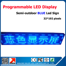 Factory Supply Blue Color P10 Semi-outdoor LED Display Screen Scrolling Message Board P10 40*200CM LED Signs for Sale