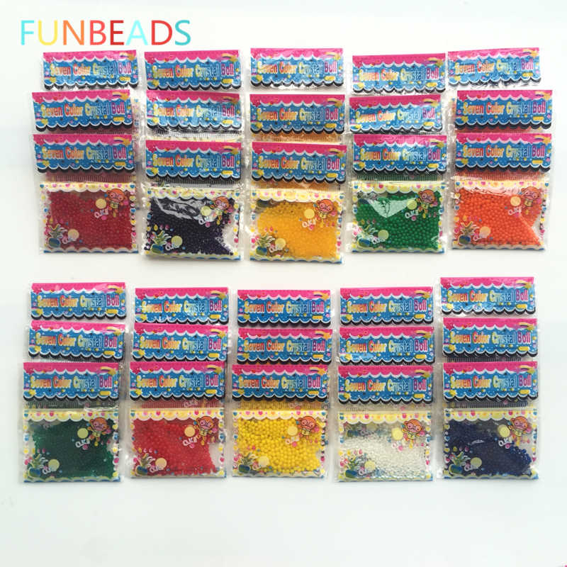 100bags/lot 1.5-2mm Colorful Crystal Soil Mud Orbiz Hydrogel Gel Kids Toy Water Beads Growing Water Balls Home Decor