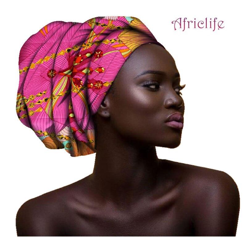 2019 Multi-color Hair Accessory Headband Bazin Head Wrap Tie Scarf High Quality African Hair Head Scarf African Scarves AF003