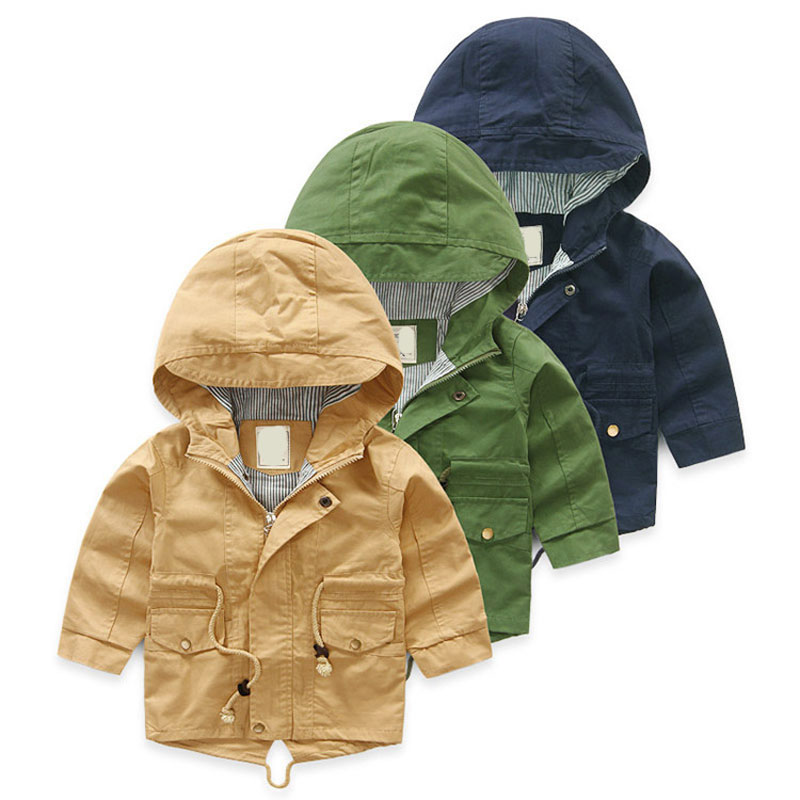 V TREE Spring Autumn Jacket For Girls Cartoon Boys Coat Hoody Children Outerwear Baby Windbreaker