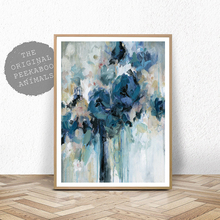 Abstract Art Print Canvas Painting Nordic Blue Skyfall Artwork Poster Watercolor Graffiti Wall Picture For Living Room Decor