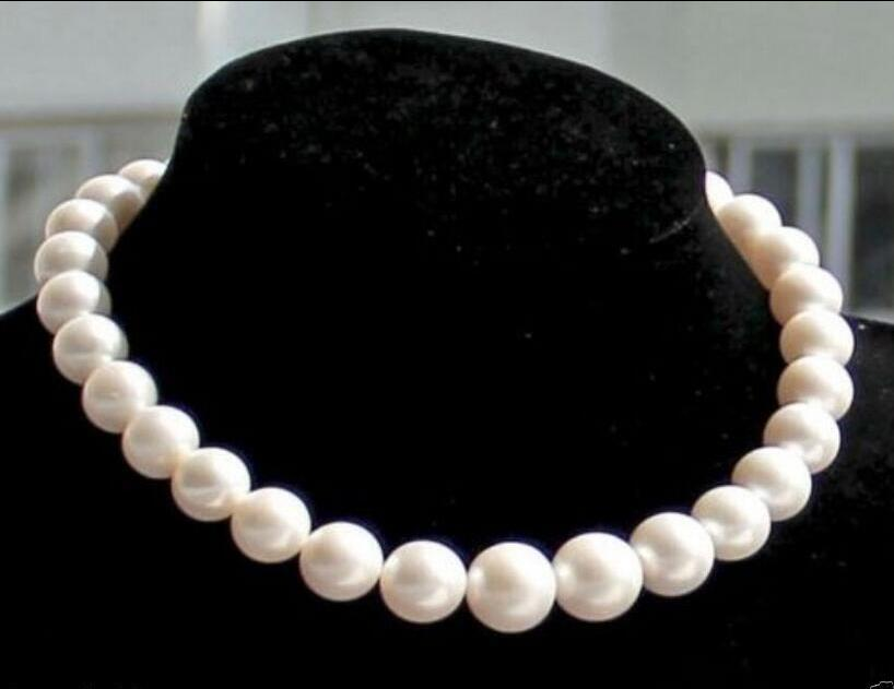 FREE SHIPPING HOT sell new Style >>>>natural 10-11mm white south sea pearl necklace 17