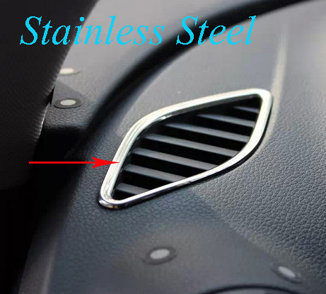 Stainless Steel Car Dashboard Air Vent Panel Car Interior Vent Frame