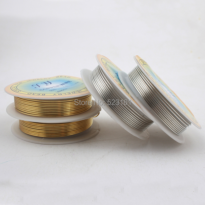 2 pcs/lot) 18 ga Jewelry Copper Wire Solid Gold Silver Coated ...