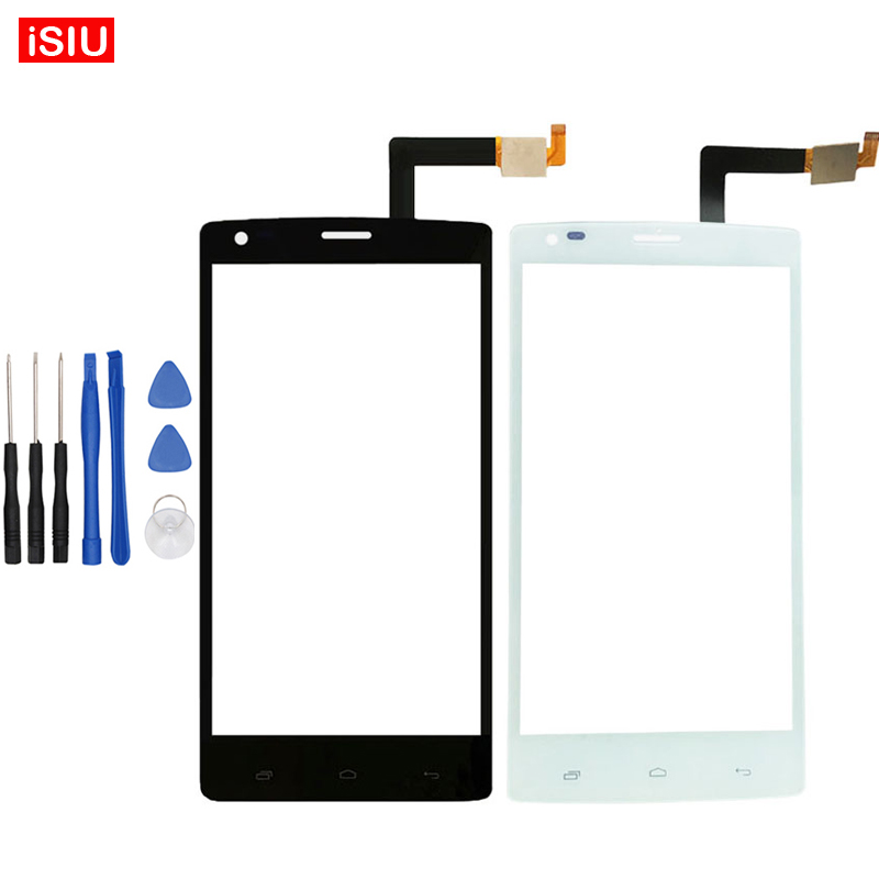 5.0 inch Black / White For Fly IQ4505 / IQ 4505 ERA Life 7 LCD Touch Screen Lens Glass Outer Front Panel + Tools
