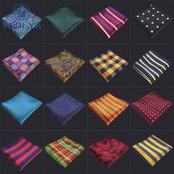 Роскошные для мужчин полиэстер карман квадратный цветочный плед в полоску горошек платок Винтаж Hanky человек жаккардовые Тканые Для