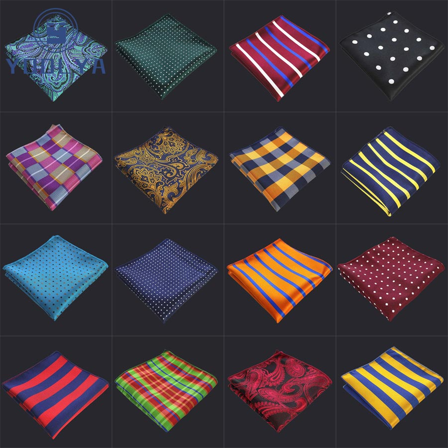 Sale Sale Sale! Men's Polyester Pocket Square Floral Striped Dot Handkerchief Vintage Hanky Man Jacquard Woven For Wedding Party
