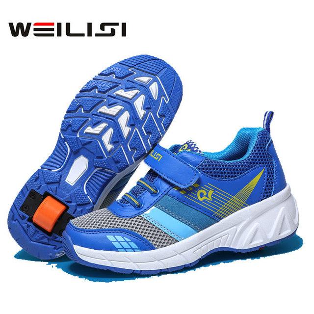 Zapatos De niño Con Ruedas de Primavera Zapatillas de Deporte Casuales Automáticas Patinaje Patines Zapatos Tenis Infantil Sapatos Zapatillas Con Rueda