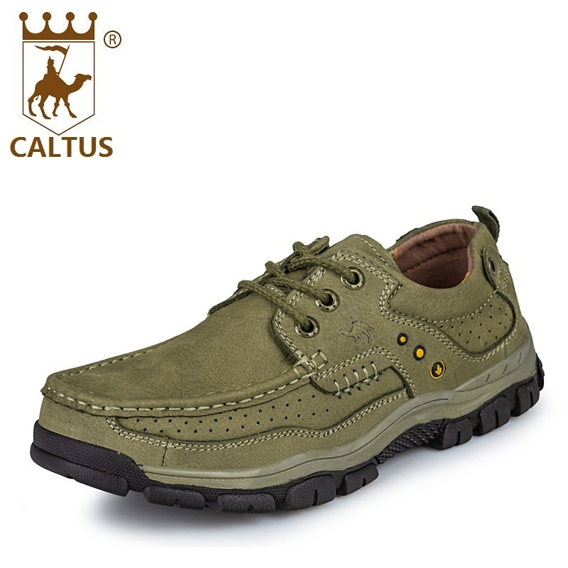 CALTUS Winter Casual Shoes Light Weight New Design Flats Men Genuine Leather Wedding And Party Shoes AA20540