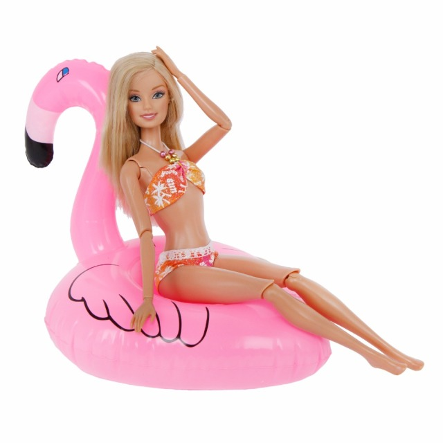 Swimming Suit and Swim Ring For Barbie Doll 2 pcs Set