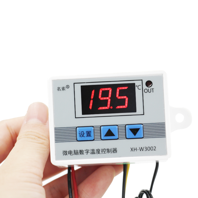 <font><b>W3002</b></font> Digital LED Temperature Controller 10A Thermostat Control Switch Probe with sensor 220V 12V 24V with Delay start 40%off image