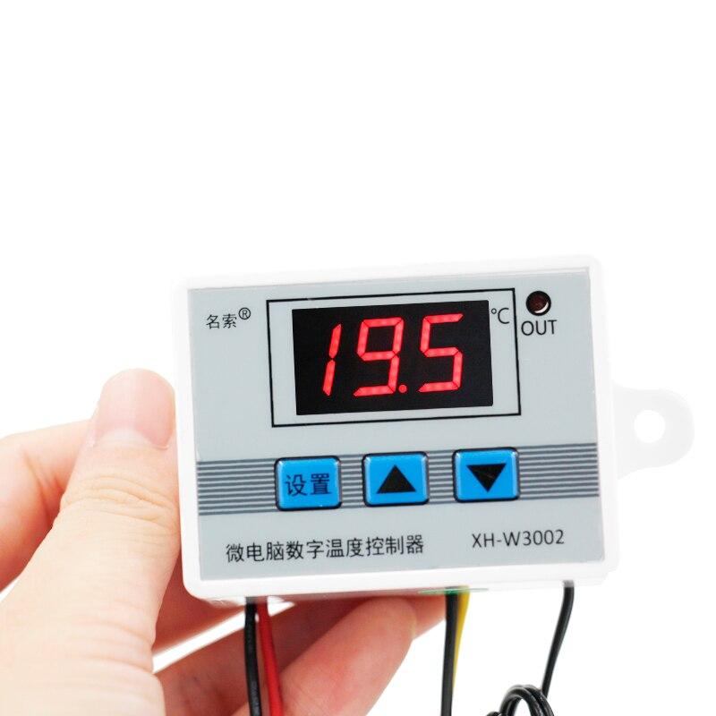 W3002 Numérique LED Température Contrôleur 10A Thermostat Contrôle Interrupteur Sonde avec capteur 220 V 12 V 24 V avec Retard commencer 40%