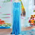 Эльза костюм для взрослых принцесса elsa dress косплей хеллоуин костюм для женщин снежная королева косплей Партия Формальное Dress