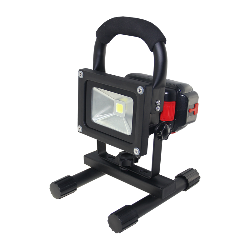 Portable 10W Rechargeable LED Flood Light Waterproof Hand-Carry Outdoor LED FloodLight With Detachable Battery freeship F024-1B new 6 18650 battery new powerful lights rechargeable led floodlight 100leds 2400lumen 100w flood lamp portable light