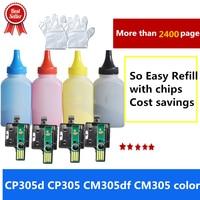 Compatível para Fuji Xerox Docuprint CP305d CP305 CM305df CM305 toner de cor com chip de cor 4 CT201632 CT201633 CT201634 CT201635|toner refill|fuji xerox tonerxerox toner -