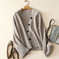 Kashana Cable Knit Cardigan Sweater High Quality 100 Pure Cashmere Thicker Cardigans Women S V Neck