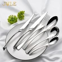 Silverware Kaya Luxury Cutlery Set Stainless Steel Dinner Knife Fork Tablespoon Dinnerware Service 6 Western Tableware Tools