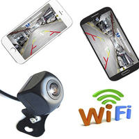 Waterproof WiFi Wireless Car Rear View Cam Backup Reverse Camera Monitoring Device 150 Degree