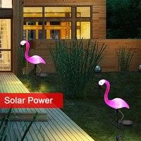 Piękne lampa trawnikowa lampa krajobrazowa słonecznego Flamingo LED stoczni kwiat na świeżym powietrzu w Zewnętrzne oświetlenie od Lampy i oświetlenie na
